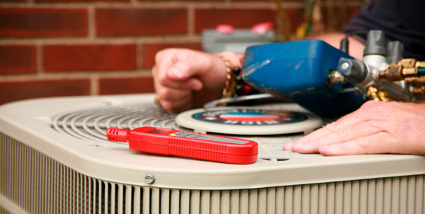 a central air conditioner for an air conditioning unit technician